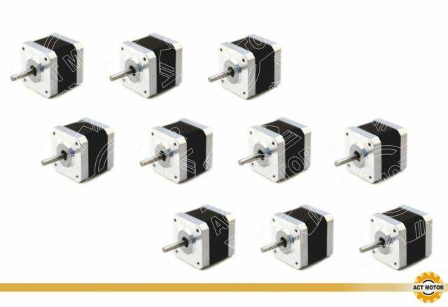 DE Free 3PCS Nema17 Schrittmotor 17HS4410-04 1A 40mm Bipolar 0.5Nm D-Shaft Φ5mm