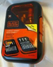 Decker A7202 Ensemble pour vissage 38 pi/èces Black