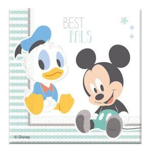 20pk 2ply 33cm Servilletas Papel Infantil Mickey Cumpleaños Fiesta Baby Shower Vajilla