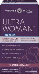 Ultra Woman 50+ Daily Multi-=Vitamin - 60 Coated Caplets