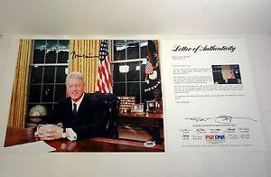 President Bill Clinton Signed Autograph 11x14 Photo PSA/DNA COA #3