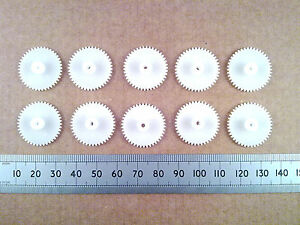 Qty-10-22mm-Diameter-Plastic-Cog-Wheels-for-2mm-Motor-Shaft-42-Tooth-Gears
