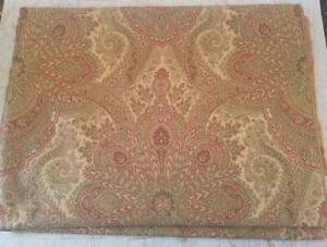 "Gold Pattern Heavy Upholstery Fabric Jacquard Chenille 58"" By the Yard"