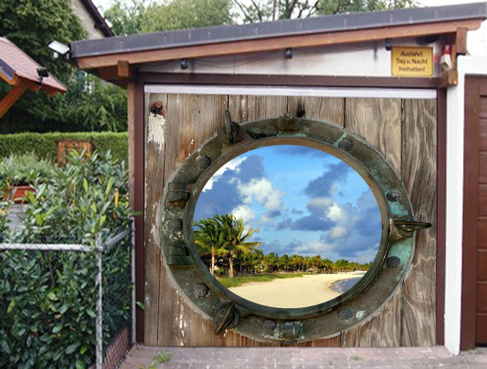 3D Window Beach 34 Garage Door Murals Wall Print Decal Wall Deco AJ WALLPAPER IE