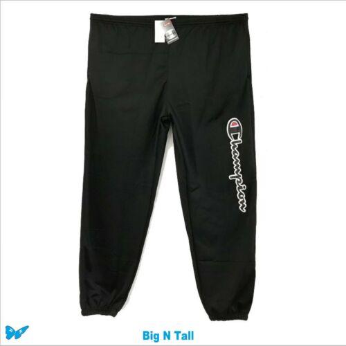 Champion Black Spell Out Logo Script Pants Gym Lounge Big /& Tall 4XLT EPO-W1