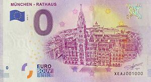 BILLET 0  EURO MUNCHEN RATHAUS  ALLEMAGNE 2018  NUMERO 1000