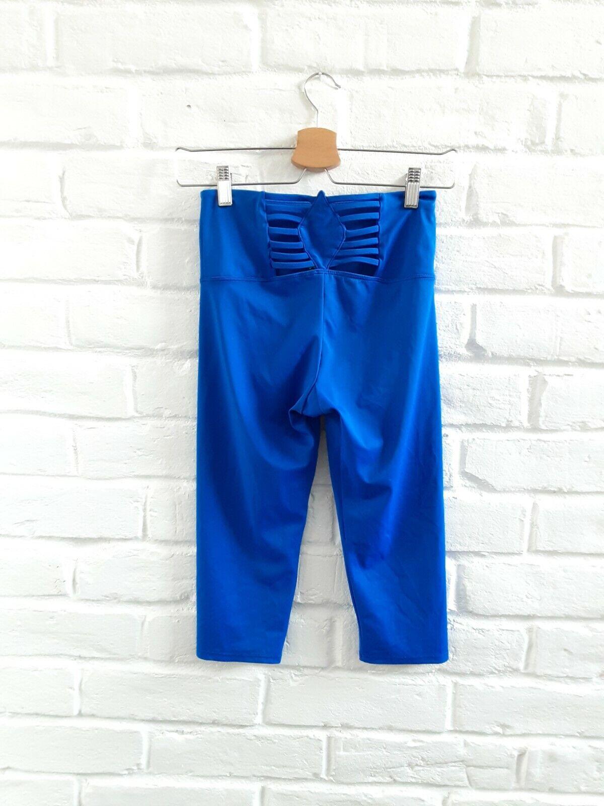 Onzie Blue Yoga Capri Workout Athletic Pants Leggings High Waist Activewear XS