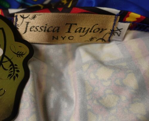 Jessica Taylor Women Plus Size 1x 2x 3x Dashiki African Summer Sun Dress Blue