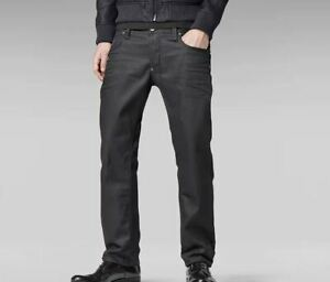 G-Star Raw Attacc Low Straight Schwarz Jeans Herren Größe UK w30 l32 * ref60-3