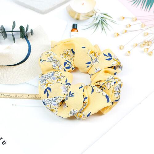 Sweet Spring Flower Hair Scrunchie Ponytail Holder Soft Elastic Hair Ties Rope