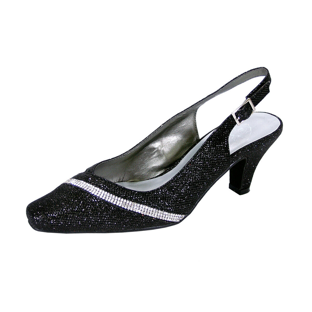 FLORAL FLORAL FLORAL Candice Damens Wide Width Decorative Crystal Strip on Vamp Slingback ed5c33