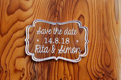 Wedding Salvare Le Date-curvo Vintage Matrimonio Favore Salva Data-chiaro-mostra Il Titolo Originale
