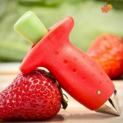 Strawberry Berry Leaves Stem Huller Remover Gem Removal Tool M5D1 Fruit K3X7