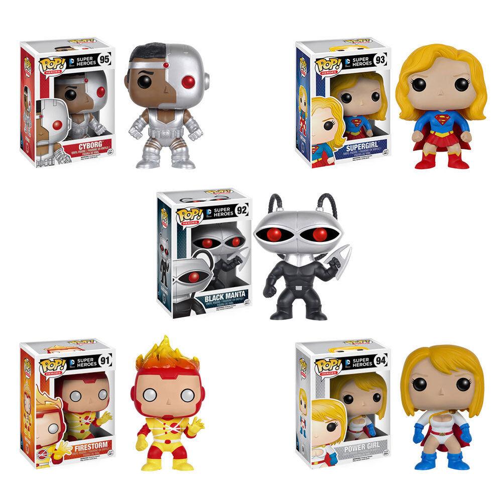 Funko Pop  DC súper Heroes-Juego de 5 figuras de vinilo (Firestorm, Cyborg, súpergirl