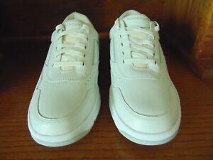 rockport prowalker apm35517m men's white leather walking