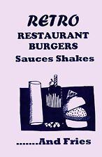 RETRO RESTAURANT BURGERS, SHAKES & FRIES cookbook fast food book sauces MALTS!!!