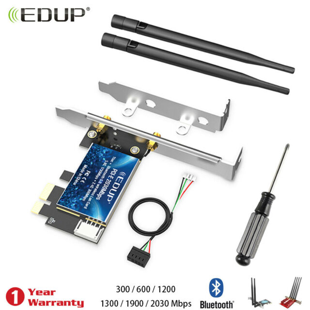 Bluetooth 4.0 Wireless Card To Mini PCI-E 1X Adapter For PC//Hackintosh WiFi