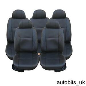 FULL SET BLACK LEATHER 5X SEAT COVERS FOR 5 SEATER MAZDA