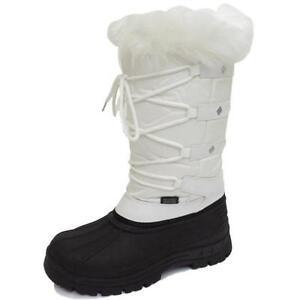 Image is loading LADIES-WHITE-WARM-WINTER-SNOW-RAIN-SKI-THERMAL-