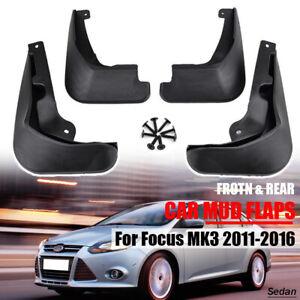 Front-Rear-Mud-Flaps-For-Ford-Focus-Mk3-Sedan-12-16-Splash-Guards-Mudguards