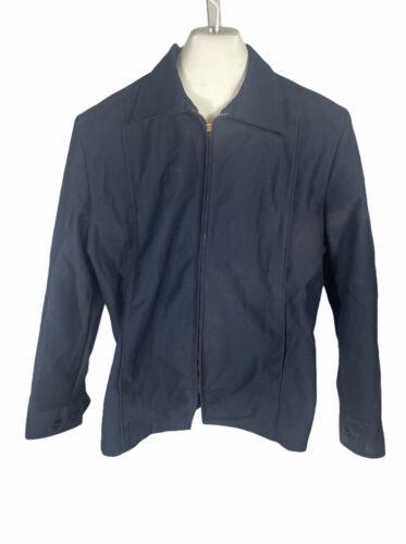 Wrangler Uniforms Work Jacket Blue mens sz L Reg N