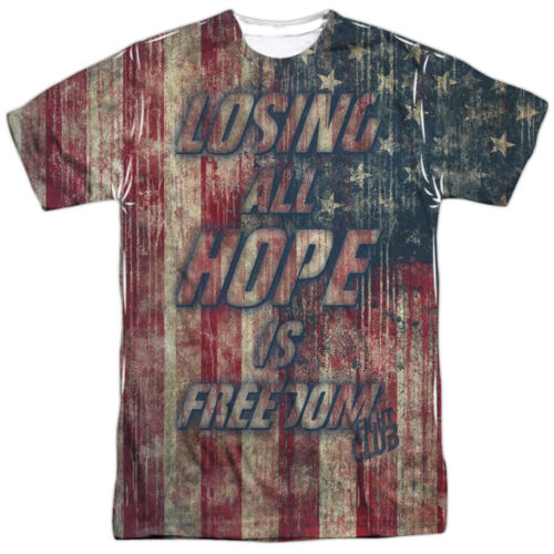 Fight Club Movie LOSING ALL HOPE IS FREEDOM 1-Sided Big Print Poly T-Shirt