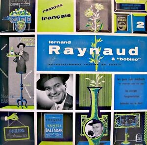 FERNAND-RAYNAUD-a-bobino-LIVE-LP-25cm-PHILIPS-les-oranges-restons-francais-VG