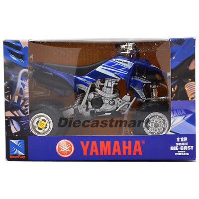 NEWRAY YAMAHA YFZ 450 1:12 QUADRACER DIECAST ATV BLUE