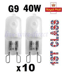 10-x-G9-Halogen-Light-Bulbs-Frosted-Capsule-240V-40W-Watt