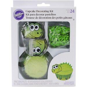 Wilton-Dino-Cupcake-Decorating-Kit-Baking-Cupcake-Kit-415-0760-Free-Shipping