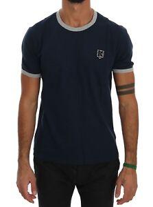 NEW-180-KENZO-T-shirt-Beachwear-Blue-Cotton-Crewneck-Short-Sleeve-Mens-Top-s-M
