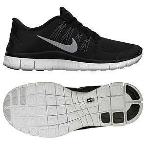 ed4268d07c7d Nike Wmns Free 5.0+ 580591-002 Black Silver Dark Grey White Women ...