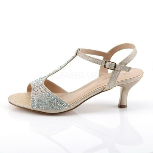 Audrey Sommer Sandalen Fête Danse Fabulicious T 05 Or Edel strap Sexy Strass gwxBd