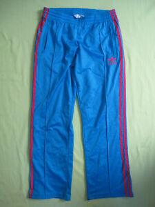 Détails sur Pantalon Adidas Originals Bleu Femme Style vintage Survetement 38