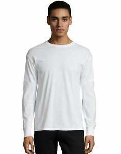 Hanes-Crewneck-Long-Sleeve-T-Shirt-X-Temp-Men-039-s-Soft-Wicking-Cotton-Blend-S-3XL