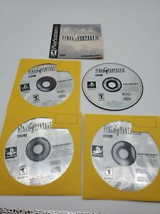 Final Fantasy IX 9 (Sony PlayStation 1 PS1 2000) 4 Disc Set black label manual