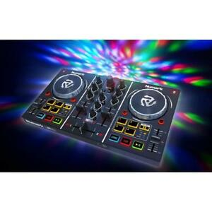 Numark-Party-Mix-2-Deck-DJ-Controller-mit-RGB-LED-Lichteffekt-Virtual-DJ-LE