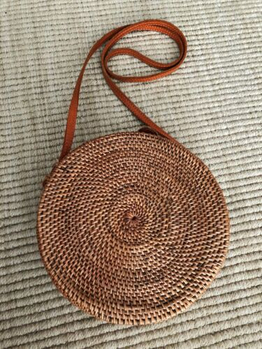 Summer Straw Round Shoulder Bag