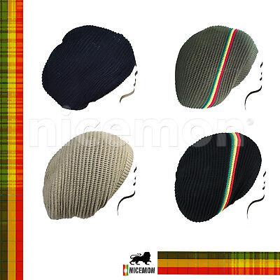 29efe8f80 Rasta Dread Dreadlocks Tam Hat Beret 100% Cotton Cap Reggae Marley Jamaica  M/L   eBay