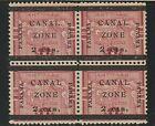 EDSROOM-8616 Canal Zone 17 type d No Gum 1906 Block of 4 CV$13