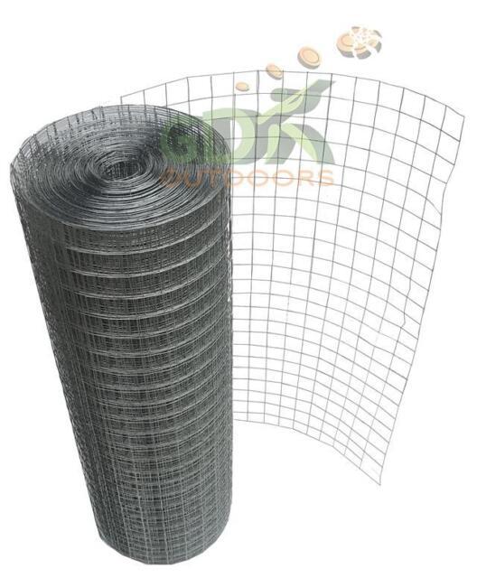 GDK Galvanised Chicken Wire Mesh Fence 25m Lengths 600mm Height 25mm ...