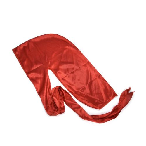 Durag Unisex Charm Silky Hair Head Wrap Cap Summer Bandannas Solid Color Gift