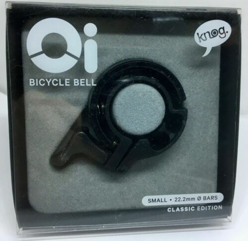 Knog Oi Classic Bicycle Bell BLACK SMALL FIR BARS 22.2 MM CHEAPEST ONLINE NEW