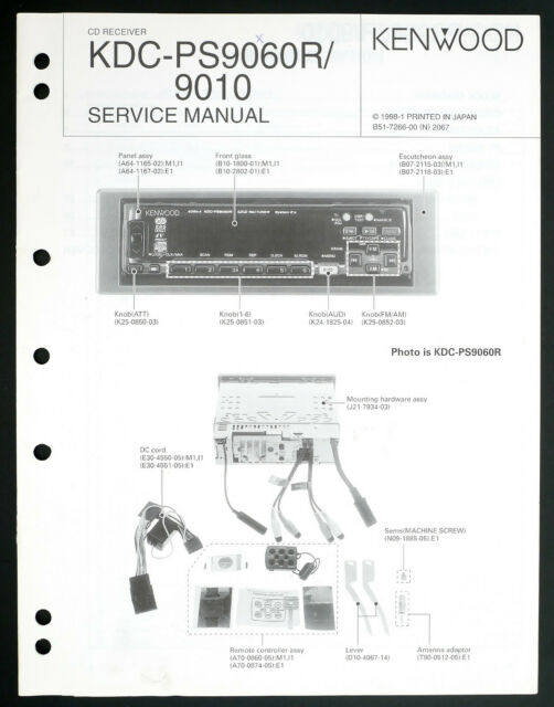 Kenwood Kdc 9010 Original Car Cd Receiver Service Manual  Diagram O205