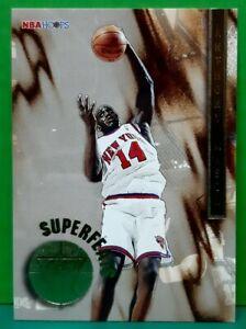 Anthony Mason insert card Superfeats 1996-97 Skybox NBA Hoops #6