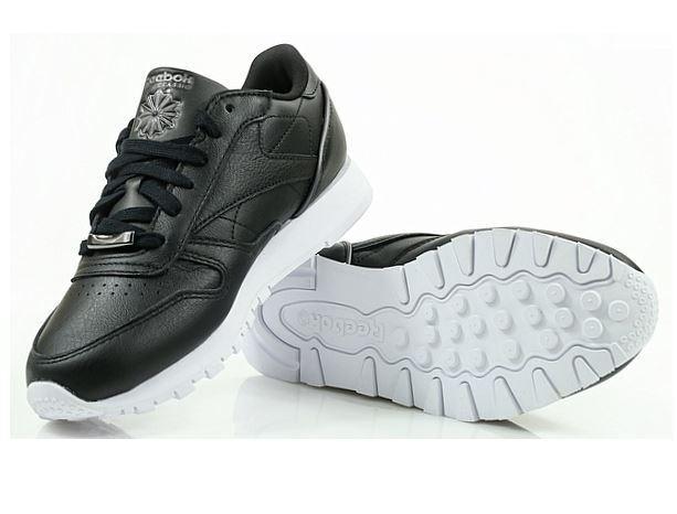 Reebok Classic Leather HW bs9879 señora zapatillas zapatillas deporte negro negro
