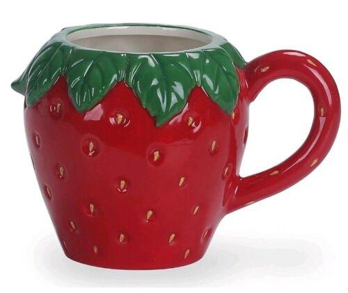 RED Strawberry 3D Tea Coffee Cappuccino Latte Mug Novelty Kitchen DECOR ORNAMENT