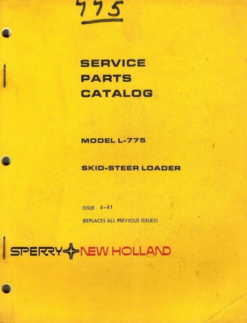 New Holland L775 Skid Steer Loader Parts Manual