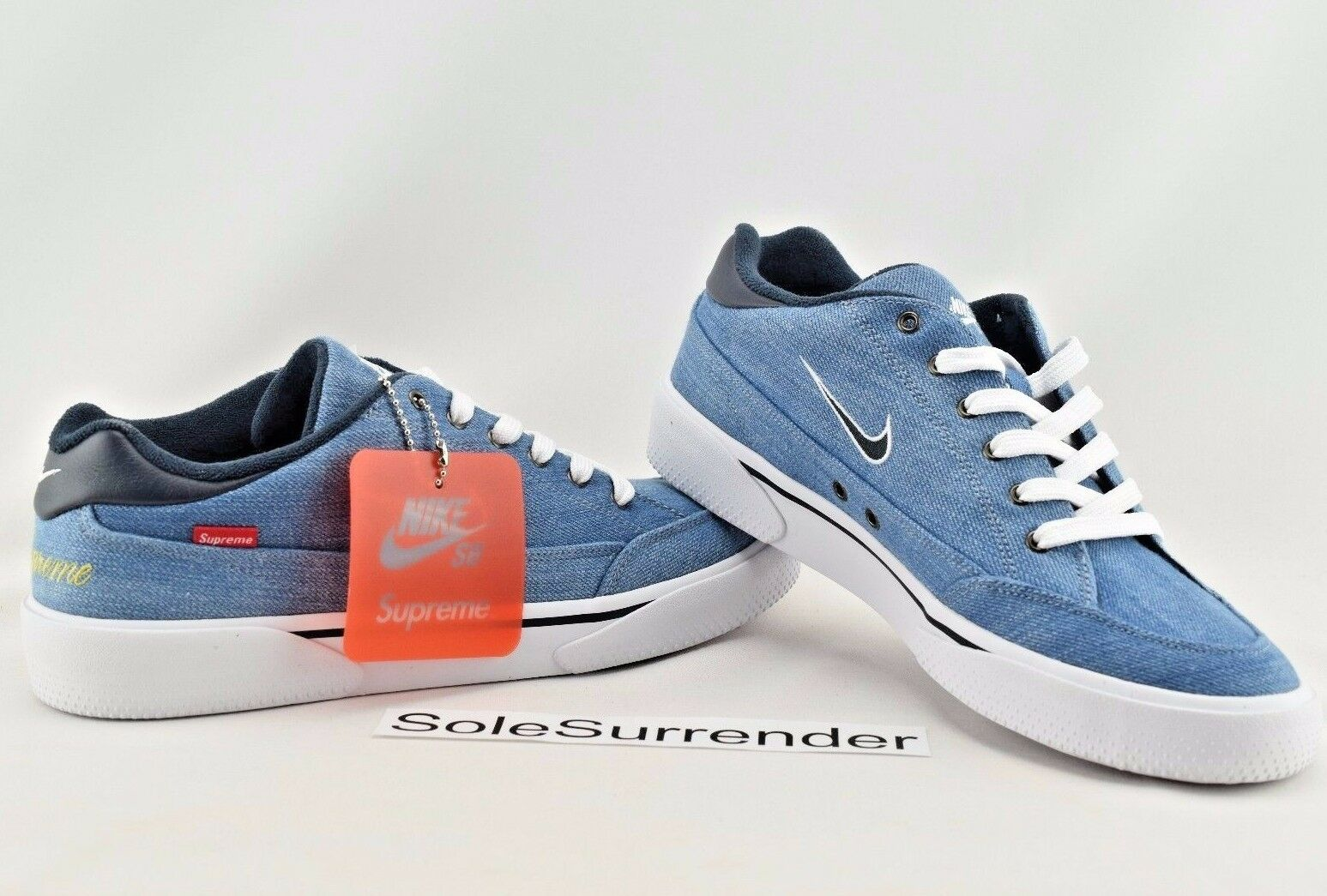 Nike SB GTS QS Supreme  - SIZE 8.5 - NEW - 801621-441 White Obsidian Blue Denim The most popular shoes for men and women