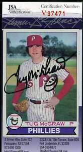 Tug Mcgraw 1979 Topps Jsa Coa Hand Signed Authentic Autograph